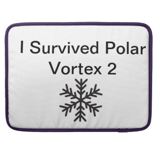I Survived Polar Vortex 2 MacBook Pro Sleeve