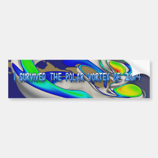 I Survived Polar Vortex of 2014 Render Bumper Stkr Bumper Sticker