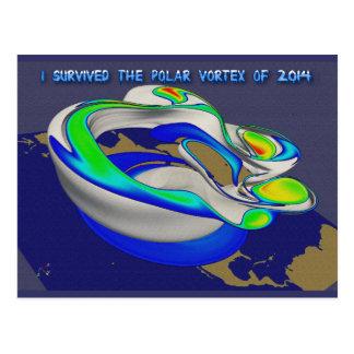 I Survived Polar Vortex of 2014 Rendering Postcard