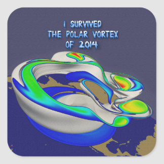 I Survived Polar Vortex of 2014 Rendering Sticker