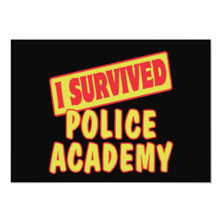I SURVIVED POLICE ACADEMY ANNOUNCEMENT