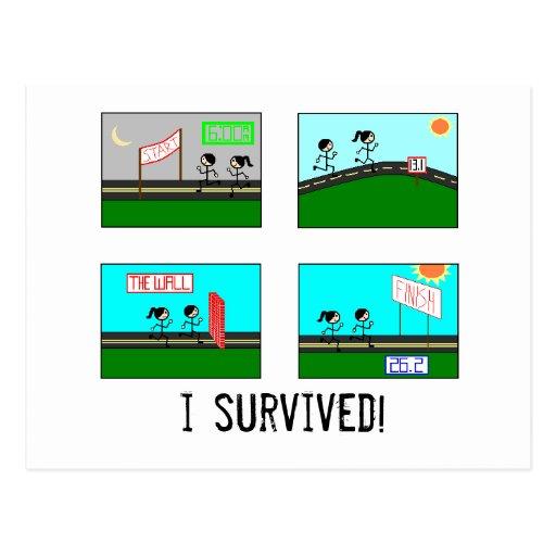 i survived! postcard