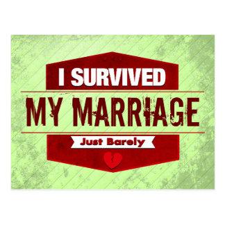 I Survived Post Card