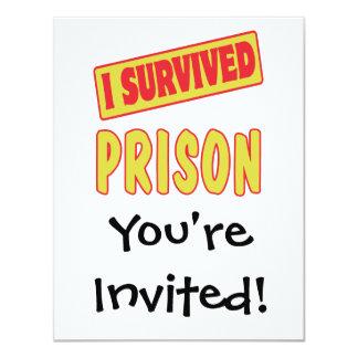 I SURVIVED PRISON CARD
