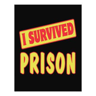 I SURVIVED PRISON FLYER DESIGN
