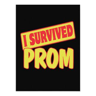 I SURVIVED PROM 6.5X8.75 PAPER INVITATION CARD