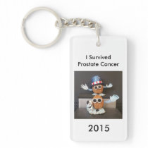 I Survived Prostate Cancer 2015 Keychain