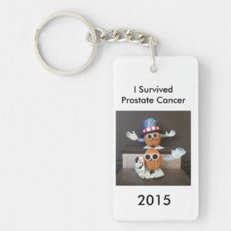I Survived Prostate Cancer 2015 Keychain