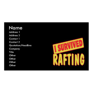 I SURVIVED RAFTING Double-Sided STANDARD BUSINESS CARDS (Pack OF 100)
