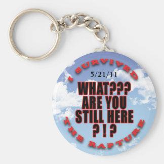 """""""I survived...rapture"""" Basic Round Button Keychain"""