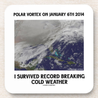 I Survived Record Breaking Cold Weather Beverage Coaster