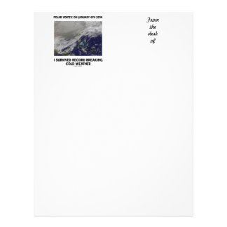 I Survived Record Breaking Cold Weather Custom Letterhead