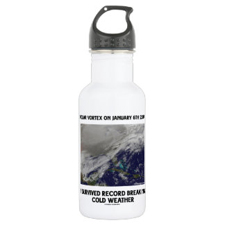 I Survived Record Breaking Cold Weather 18oz Water Bottle