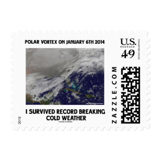 I Survived Record Breaking Cold Weather Postage Stamp