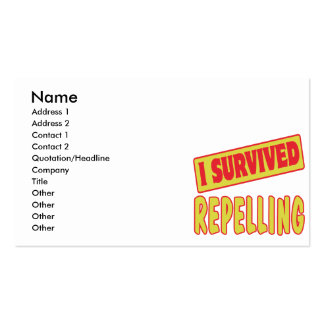I SURVIVED REPELLING BUSINESS CARD TEMPLATE