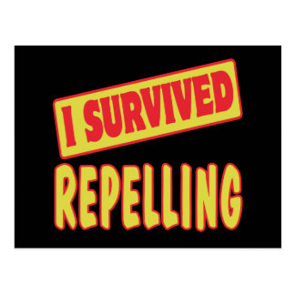 I SURVIVED REPELLING POSTCARD
