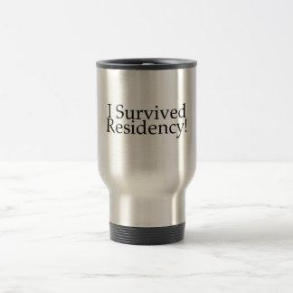 I Survived Residency! 15 Oz Stainless Steel Travel Mug