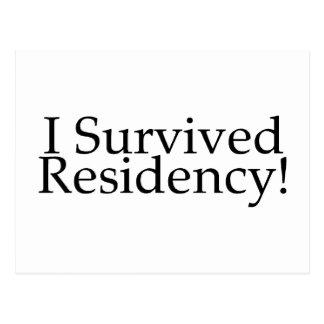 I Survived Residency! Postcard