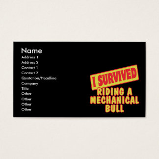 I SURVIVED RIDING A MECHANICAL BULL BUSINESS CARD