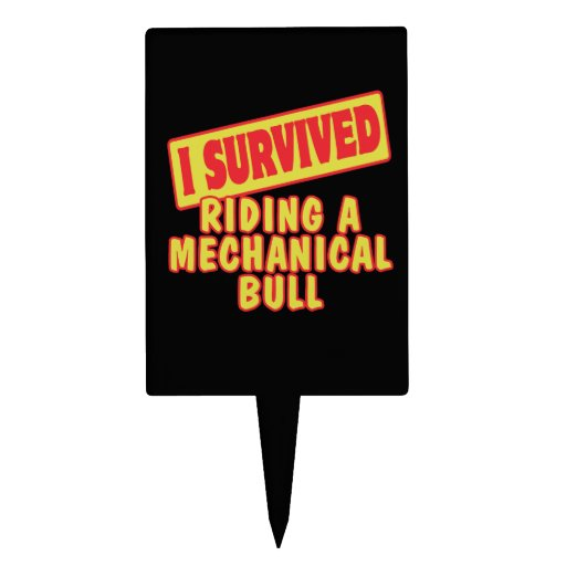 I SURVIVED RIDING A MECHANICAL BULL CAKE TOPPER