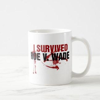 I survived Roe V Wade Classic White Coffee Mug