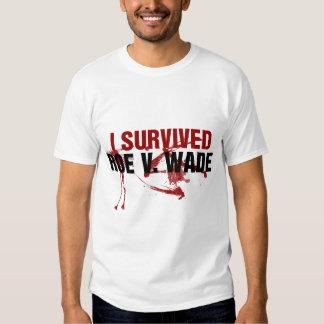I survived Roe V Wade T-shirts
