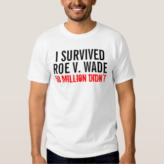 I Survived Roe V. Wade Tee Shirt