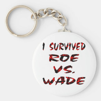 I Survived Roe vs. Wade Basic Round Button Keychain