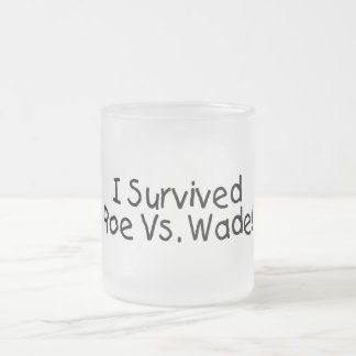 I Survived Roe Vs. Wade Frosted Glass Coffee Mug