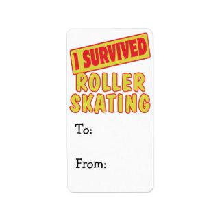 I SURVIVED ROLLER SKATING ADDRESS LABEL