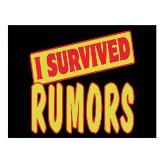 I SURVIVED RUMORS POSTCARD