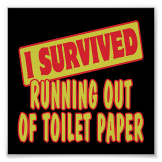 I SURVIVED RUNNING OUT OF TOILET PAPER POSTERS