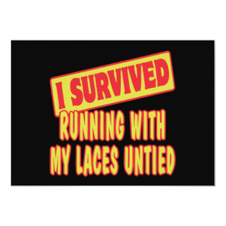 I SURVIVED RUNNING WITH LACES UNTIED INVITES