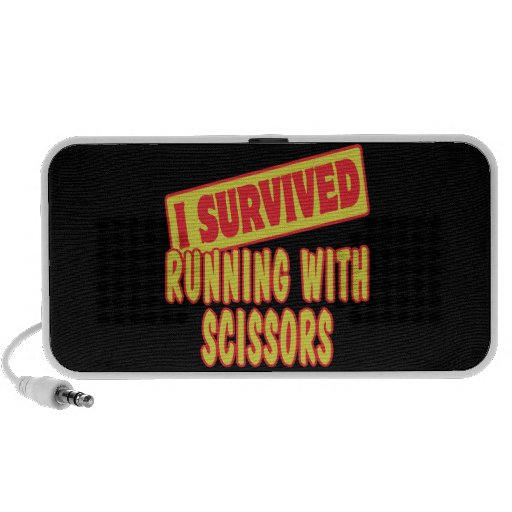 I SURVIVED RUNNING WITH SCISSORS NOTEBOOK SPEAKER