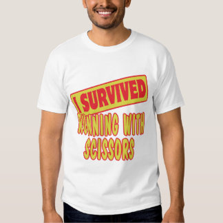 I SURVIVED RUNNING WITH SCISSORS TSHIRT