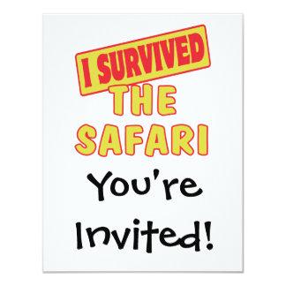 I SURVIVED SAFARI 4.25X5.5 PAPER INVITATION CARD