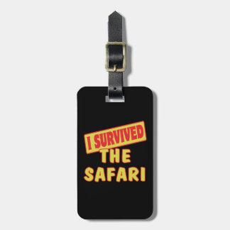 I SURVIVED SAFARI LUGGAGE TAG