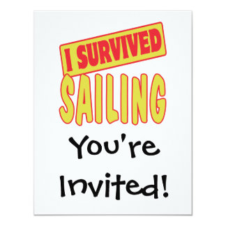 I SURVIVED SAILING 4.25X5.5 PAPER INVITATION CARD