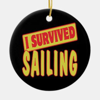 I SURVIVED SAILING ORNAMENT
