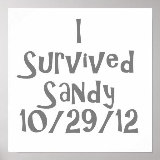 I Survived Sandy 10-129-12 Gray.png Print