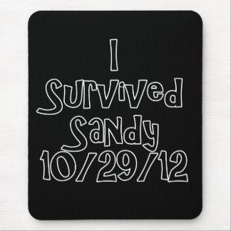 I Survived Sandy 10-29-12 Black.png Mouse Pad