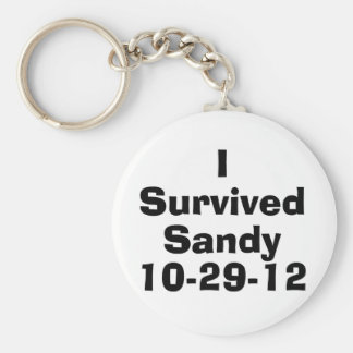 I Survived Sandy 10-29-12.png Basic Round Button Keychain