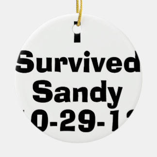 I Survived Sandy 10-29-12.png Double-Sided Ceramic Round Christmas Ornament