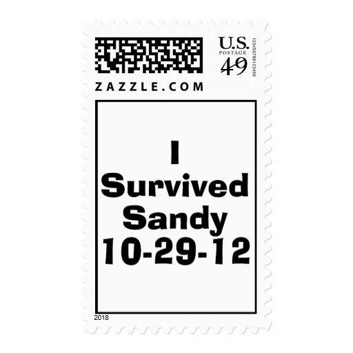 I Survived Sandy 10-29-12.png Postage Stamp