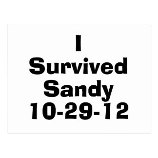 I Survived Sandy 10-29-12.png Postcard