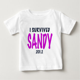 I SURVIVED SANDY 2012, charteuse, Sandy survivor Baby T-Shirt