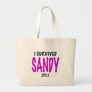 I SURVIVED SANDY 2012, charteuse, Sandy survivor Bags