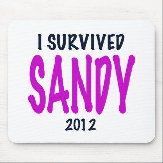 I SURVIVED SANDY 2012, charteuse, Sandy survivor Mouse Pad