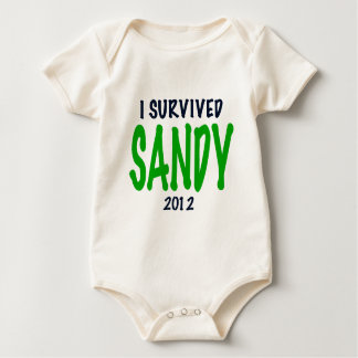 I SURVIVED SANDY 2012, green,Hurricane Sandy gifts Baby Creeper