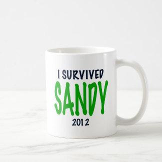 I SURVIVED SANDY 2012, green,Hurricane Sandy gifts Coffee Mug